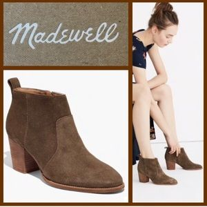 Madewell The Brenner boot in brown Suede leather